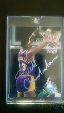1996 Topps Stars Wilt Chamberlain Autographed Card