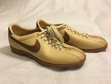Vintage 1980s Nike Bowling Shoes Size 8 1/2 Barely Used Brown Leather 830810SN