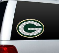 "*BIG* 12"" GREEN BAY PACKERS CAR HOME PERFORATED WINDOW FILM DECAL NFL FOOTBALL"