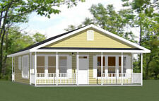 28x36 House -- 2 Bedroom 2 Bath -- PDF Floor Plan -- 1,008 sq ft -- Model 1