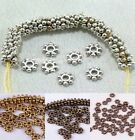 Wholesale 1000pcs Tibetan Antique Silver/Golden/Bronze Daisy Spacer Beads 4/6mm