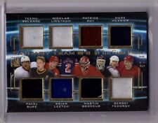 SELANNE FEDOROV BURE BRODEUR PATRICK ROY 15/16 Leaf In The Game Used Jersey #/15
