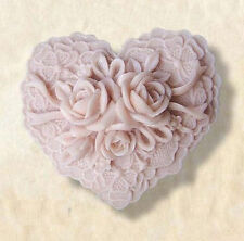 Rose Flower Heart Soap Mould Flexible Silicone Cookie Mold Chocolate Mould
