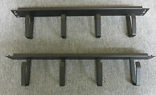 "2 x Horizontal 1U 19"" Cable Mangement Steel Bar Cable Tidy Panel 4 Ring / Hook"