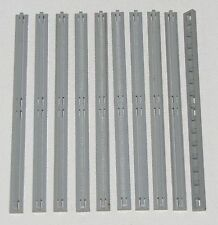 LEGO LOT OF 10 LIGHT GREY TRAIN TRACK RAIL MONORAIL PARTS