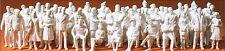 60 unbemalte Figuren für den Architekturmodellbau Preiser 68290 Maßstab 1:50 OVP