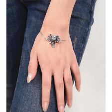 1Pc Bracelet en Argent Éléphant Totémique Bijoux Fantaisie Turquoise Pour Femmes
