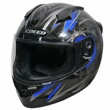 HJC Xpeed XCF3000 Quest Carbon Blue Full Face Motorcycle Sportbike Helmet SM