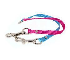 cereza & azul 2 sentidos perro/cachorro acoplador correa 1.3cm cincha