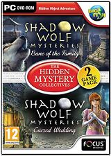 SHADOW WOLF CURSED WEDDING + BANE OF THE FAMILY Hidden Object PC Game DVD NEW