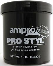 AMPRO PRO STYL PROTEIN STYLING HAIR GEL SUPER HOLD ALCOHOL-FREE (CHOOSE SIZE)