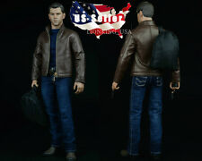 1/6 Men's Leather Jacket Set For Matt Damon Jason Bourne Hot Toys Figure USA