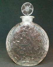 Rene Lalique Lys for D'Orsay Perfume Glass Bottle floral 7""