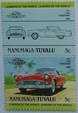 1955 FORD THUNDERBIRD (T-BIRD) Car Stamps (Leaders of the World / Auto 100)