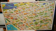 B.G.WOODY HAND SIGNED SANTA MONICA HUGE COLOR MAP POSTER