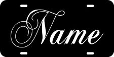 CUSTOM NAME Car Tag with Script lettering License Plate Personalized customized