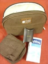 circa 2000's Titan Airways Brown Washbag, Complete With All Contents - The airli