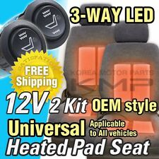 Car Interior Heated Pad 2Seat 3way LED Switch Hot Heater Kit for SSANGYONG Car