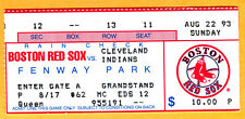 ANDRE DAWSON HR #410 TICKET STUB-8/22/93 RED SOX/INDIANS AT FENWAY