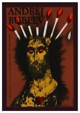 Andrei Rublev POSTER Tarkovsky Film POLISH Art BANNED IN RUSSIA Flaming JESUS
