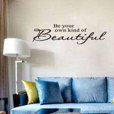 Removable Be Your Own Kind of Beautiful Quotes Wall Decal Vinyl Mural Home Decor
