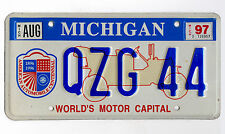"Targa Originale Americana MICHIGAN ""World's Motor Capital"" -  License Plate USA"