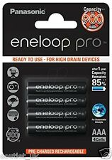 Panasonic eneloop PRO AAA NiMH Rechargeable Battery (4 pack) 900mAh BK-4HCCE NEW