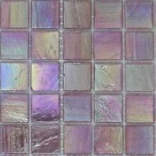 25pcs Bisazza Gloss Pearl GL 10 Fuchsia Glass Mosaic Tiles 20mm x 20mm x 4mm
