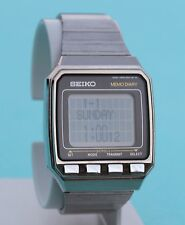 SEIKO UW02-0100 EXC DATA BANK Vintage Rare 1985 LCD Computer Watch Made in Japan