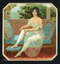 Woman in Satin, Stock Vintage Outer Cigar Label, S01