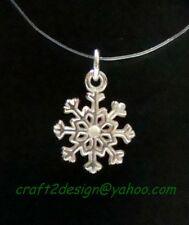 craft2design Pendant ~ 925 Sterling Silver Snowflake Pendant 15 mm