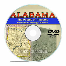 Alabama AL, People, Cities, & Towns, History and Genealogy, 94 Books, DVD CD V92