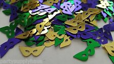 Mardi Gras METALLIC MASK CONFETTI Fat Tuesday Party Decoration TABLE SCATTER