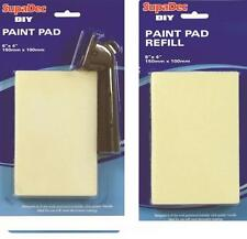 DIY Painting Paint Pad & Click & Lock Handle + Refill 6 X 4 inch