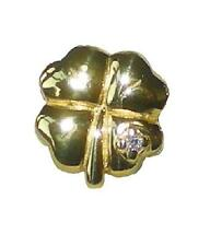 Rhona Sutton European Gold Plated 925 sterling silver charm bead - lucky clover