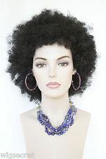 Ash Black Brunette Medium Curly Costume Fun Color Wigs