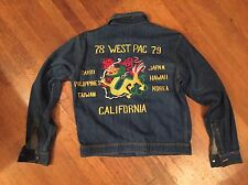 Rare 1978 79 Vietnam Levis Dragon Denim Tour Jacket Sz Lrg