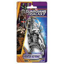Guardians of the Galaxy Rocket Raccoon Pewter Keychain NEW Toys Keyring Marvel