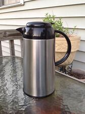 Copco 1 Quart Thermal Capacity Carafe Thermos Flask Coffee Soup Bottle Silver