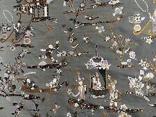 RUBELLI Principessa Kocacin argento lampas brocade viscose grey new 5+ yards