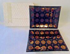 MCM Vintage Ceraglass Black & Gold Glass Snack Trinket Tray Old Coins Set of 2