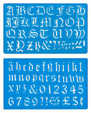 30mm old english upper minuscules alphabet chiffres pochoir template set mb