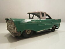 VINTAGE TIN TOY CAR FRICTION DRIVE CHINA MECHANICAL 1970'S GREEN
