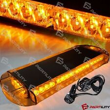 "21"" Amber Yellow Emergency Warning Hazard Security Strobe LED Light Bar Roof"