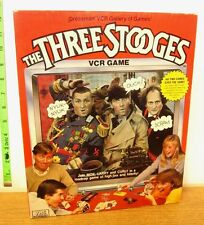THREE STOOGES vtg VCR board game Curly Shuffle 1986 Pressman movie clips