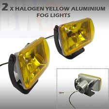 2 x 55W H3 YELLOW HALOGEN 4X4 OFFROAD FOG SPOT HEAD LIGHT DRIVING BEAM LAMP12V