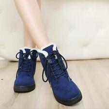 Women's Winter Warm Faux Suede Fur Lace-up Ankle Boots Snow Boots Casual Shoes