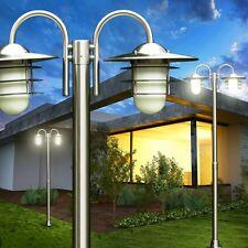Edelstahl Kandelaber Wege Lampe Garten Aussen Steh Leuchte Laterne Glas Terrasse