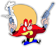 "Yosemite Sam Kids Cartoon Car Bumper Window Locker Sticker Decal 5""X4"""