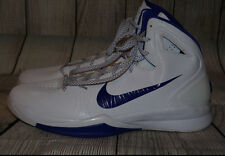 Nike 407625 Zoom Hyperdunk Flywire 2010 Basketball Men's 18 Shoes White/Concord